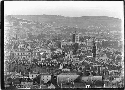 View of Bath from Beechen Cliff, Kingsmead Area c.1920s
