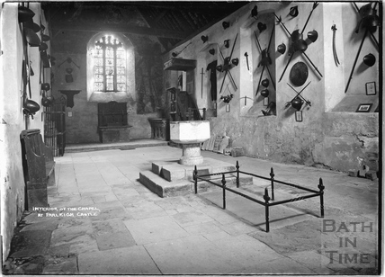 Interior of the chapel at Farleigh Castle, c.1931
