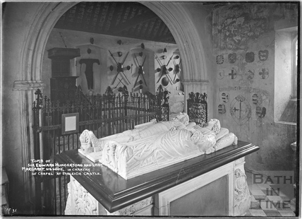 Tomb of Sir Edward Hungerford at Farleigh Castle, Oct 1931
