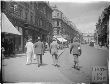Looking up Milsom Street, c.1930s