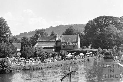 The Weir Tea Gardens, Bathampton c.1950 - detail