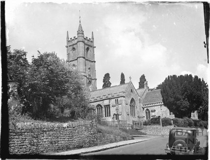 Church of St John the Baptist, Batheaston, viewed from Northend c.1926