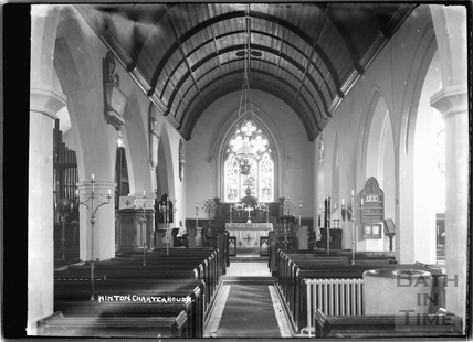 Church interior , Hinton Charterhouse c.1930s
