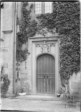 Doorway, Hinton Priory, Hinton Charterhouse c.1930s