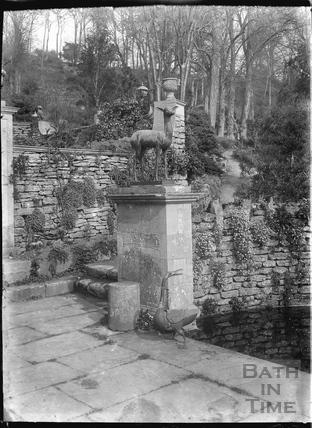 Garden statues, Iford Manor c.1920s