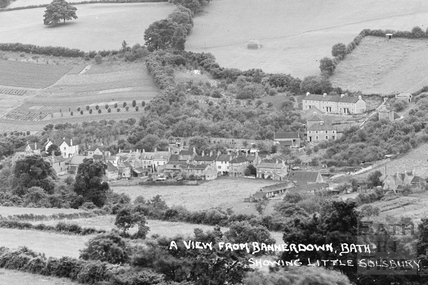 View of Northend Batheaston from Bannerdown c.1939 - detail 2 of 3