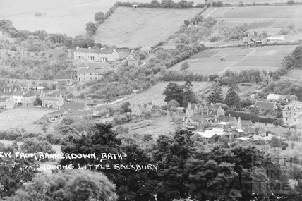 View of Northend, Batheaston from Bannerdown 3 of 3 c.1939 - detail