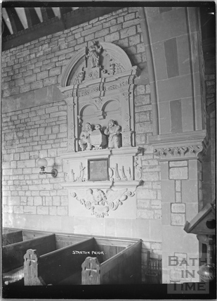 Monument inside the Prior of Stanton Prior c.1938