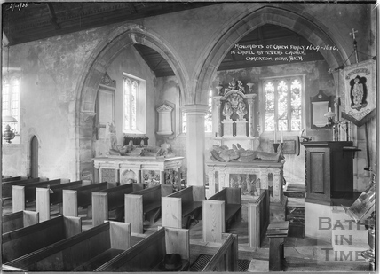 Inside St Peters Church, Camerton 8 April 1938