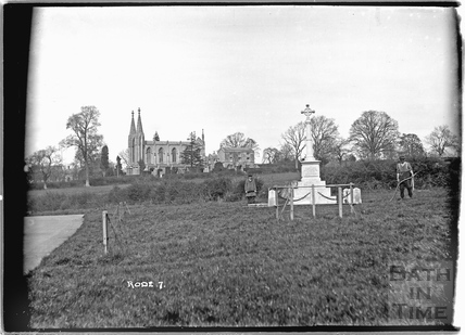 Rode War Memorial and church No. 7 c.1932