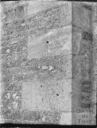 Scratch dial Sundials, Woolverton Church 18 Feb 1938