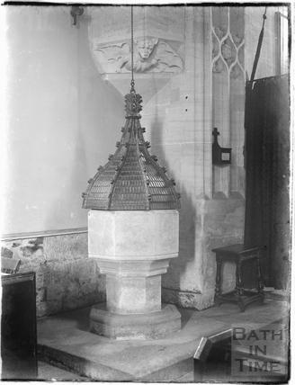 Westwood Church, font, c.1930s