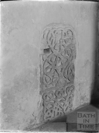 Runic Transitional Saxon Cross, Kelston Church c.1930s
