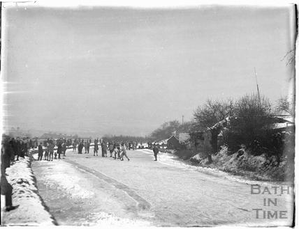 Skating, Bathwick, Bath winter 1928-1929