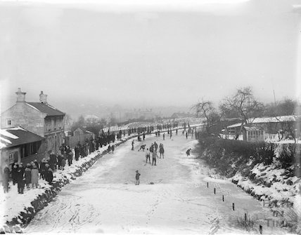 Winter skating, Bathwick, Bath 1928-1929