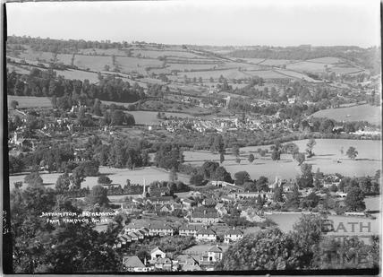 Bathampton, Batheaston from Hampton Rocks 13 Sept 1936