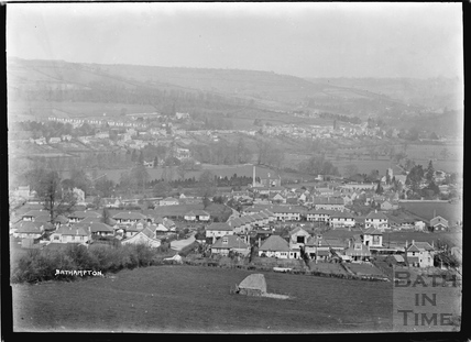 Close up view of Bathampton from Hampton Rocks, c.1936