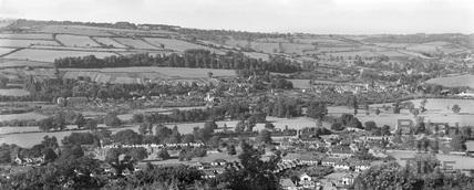 Bathampton, Batheaston and Little Solsbury from Hampton Rocks 13 Sept 1936