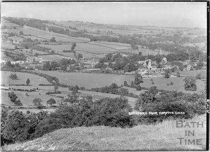 Bathford from Hampton Rocks, 13 Sept 1936