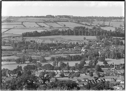 Little Solsbury, Batheaston from Hampton Rocks, 13 Sept 1936