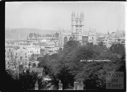 The Abbey from Bathwick Hill c.1930s