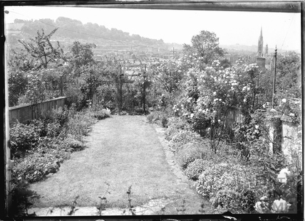 View of Bath from the back garden of 32 Sydney Buildings c.1920s