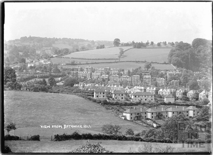 View of houses in Prior Park Road and Lyncombe Hill, from Bathwick Hill c.1930s