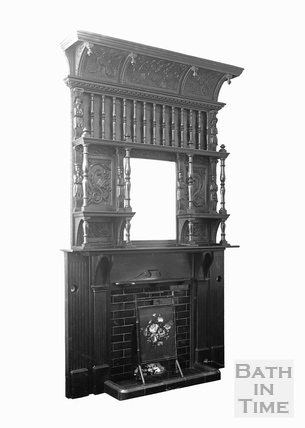 Studio shot of a fireplace c.1920s