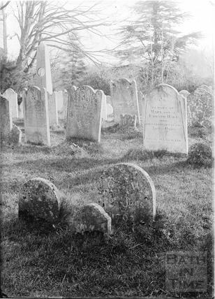 Gravestones in an unknown graveyard c.1920s