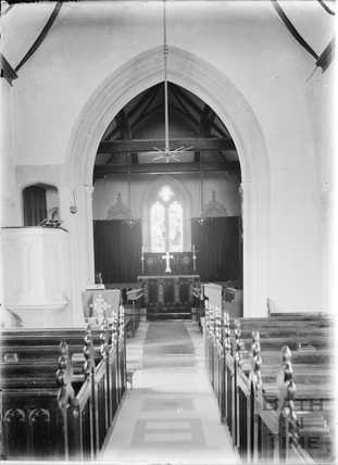 Interior of St James's Church, South Stoke. c.1920s
