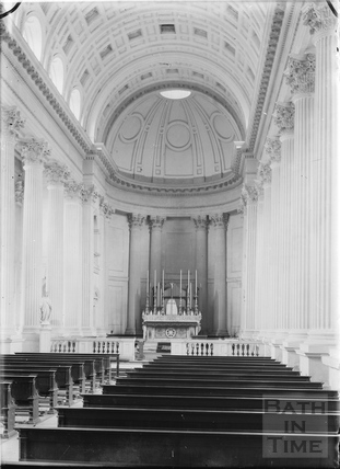 Interior of the chapel of St Paul, Prior Park c.1920s