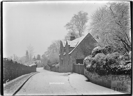 Old Cottage on a snowy Bathampton Lane 1925