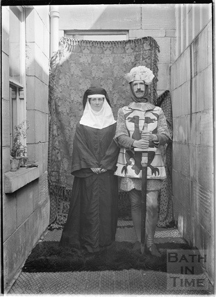 Members of the Bence Family in Costume for the Bath Pageant, July 1909