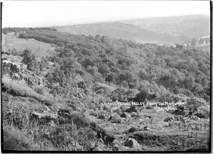View of Limpley Stoke Valley from the Monument, Bathford c.1920s
