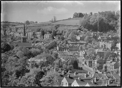 View of Widcombe from 32 Sydney Buildings c.1920s