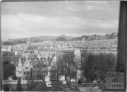 View of Bathwick from Bathwick Hill c.1950?