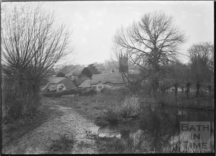 Country cottage with thatched roof at Fisherton de la Mere in the Wylye valley c.1910