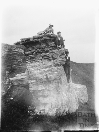 The photographer's family on Bathampton Rocks, Bathampton Down 1926
