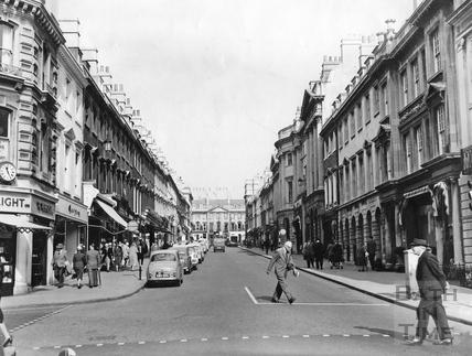 View up Milsom Street c.1965