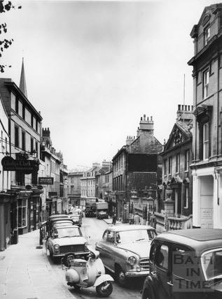 View down Broad Street towards King Edwards School c.1966