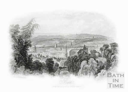 View of Bath from the vicinity of Prior Park 1850