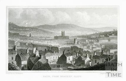 Bath from Beechen Cliff 1829