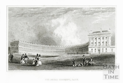 The Royal Crescent, Bath 1829