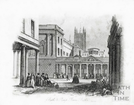 Baths and Pump Room, Bath, from Bath Street 1841