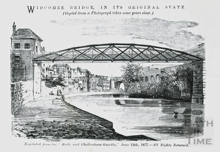 Widcombe Bridge in its original state 1877