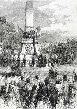 The Inaugaration of Russian Cannons at Royal Victoria Park, Bath 1857