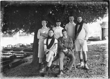 Group of Gentlemen rowers at Bathwick Boating Station c.1910