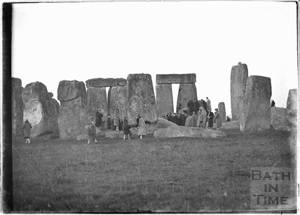 Visitors at Stonehenge c.1929
