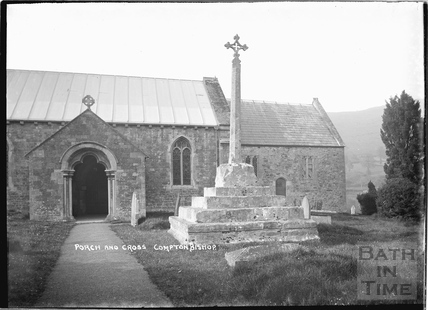 Porch and Cross, Compton Bishop c.1920s