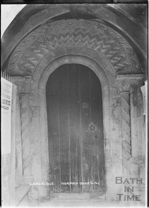 Norman Doorway, St. Mary Magdalene Church, Langridge c.1920